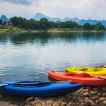 Kayaking Activity in Yangshuo, China