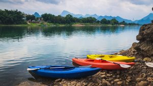 Kayaking Activity in Yangshuo, China