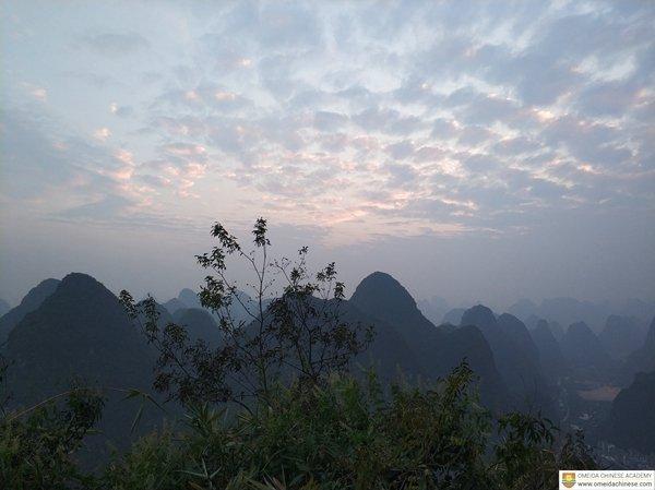 Yangshuo TV Tower Sunset