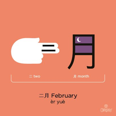 february-in-chinese