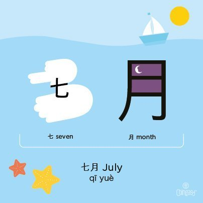 july-in-chinese
