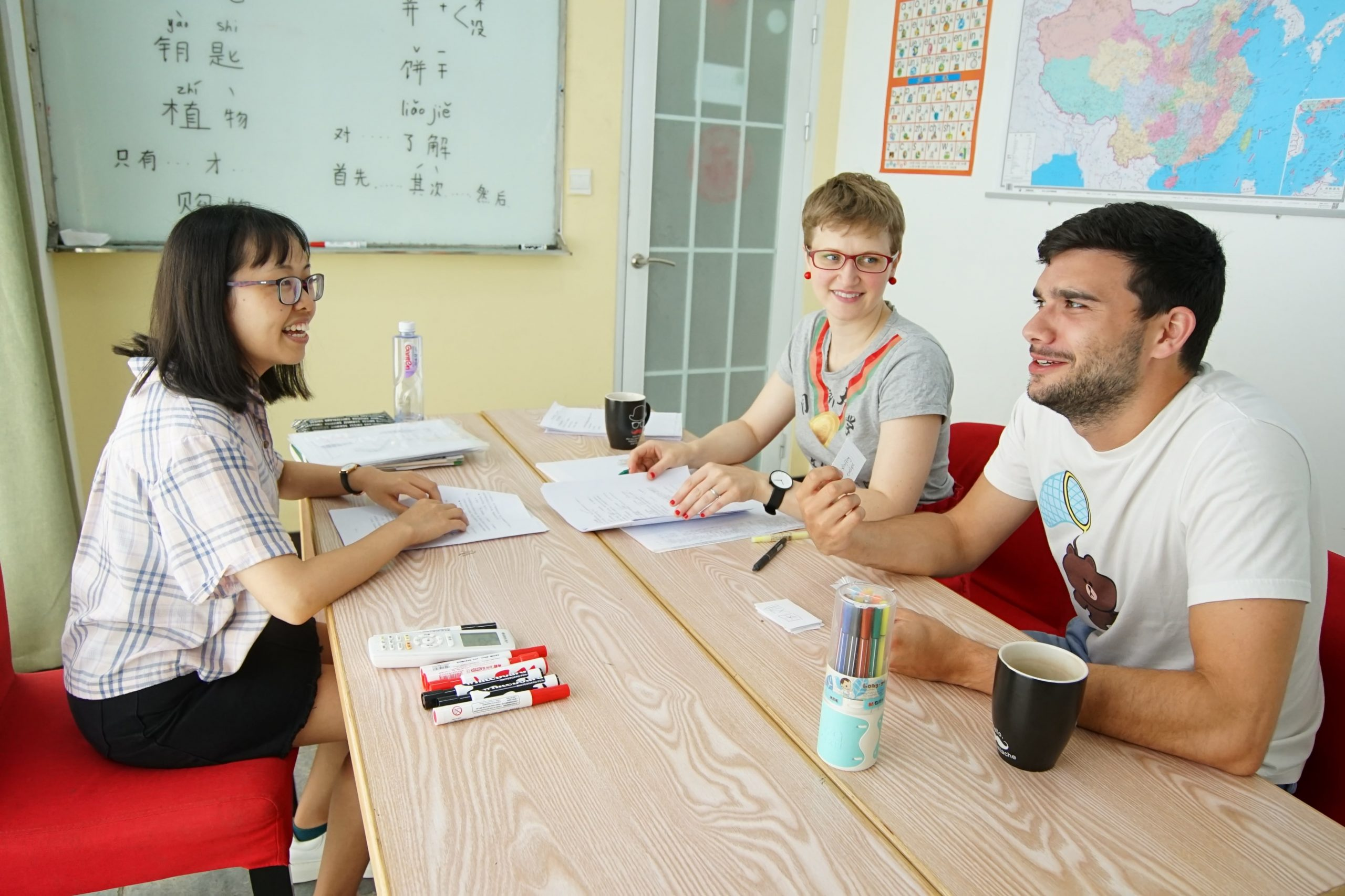 Students in classroom - Intensive Chinese course