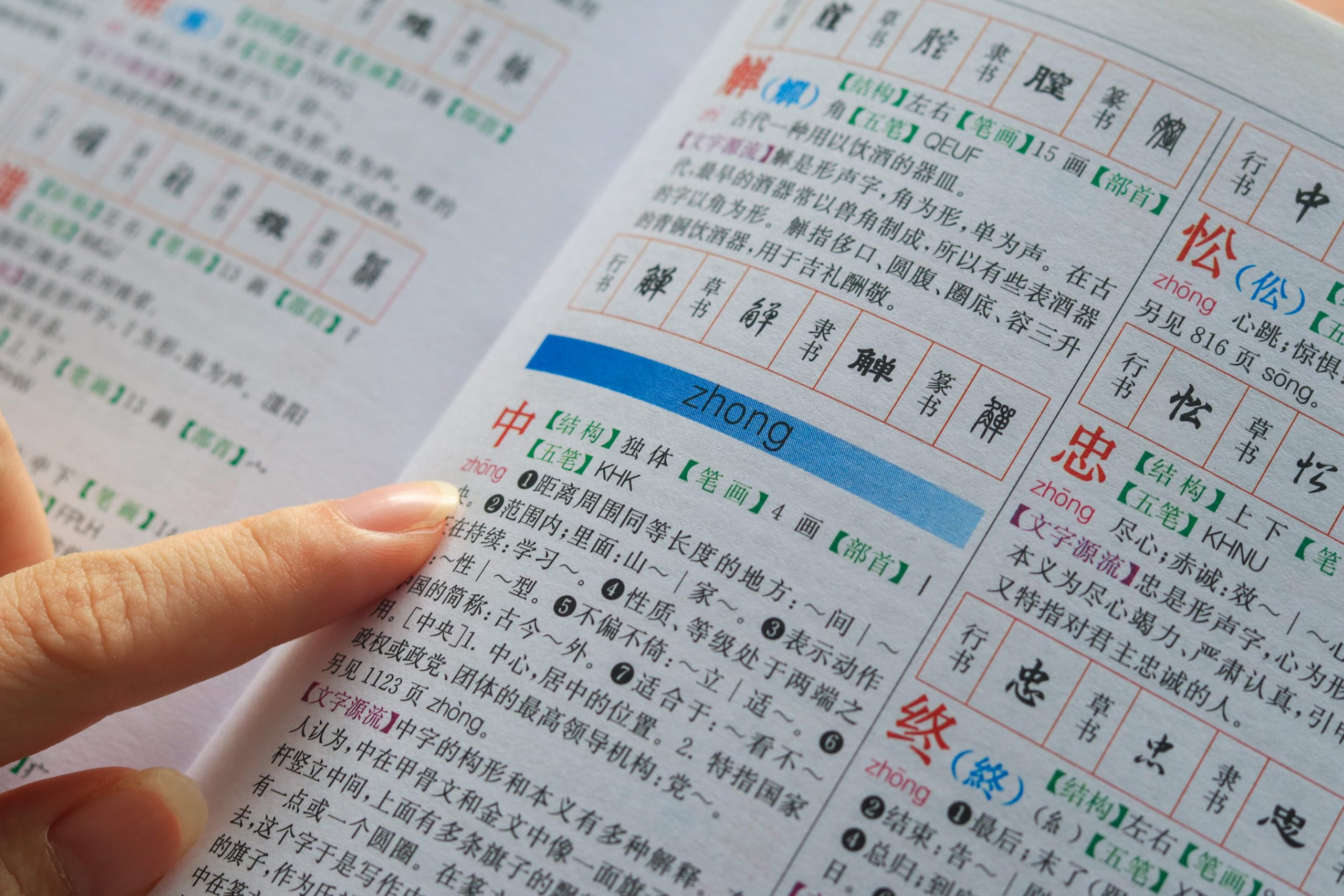 Dictionary - Intensive Chinese Course